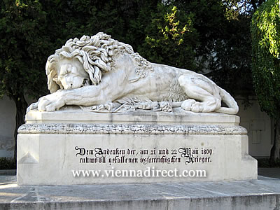 Aspern Lion memorial on the outskirts of Vienna